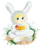 Dziecko Wielkanocny królik Zdjęcia Stock