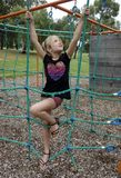 Dziecko Wspinaczkowe arkany. Zdjęcie Stock