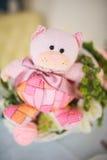 Dziecko wystroju lub dziecka prysznic wystroju menchii urodzinowy niedźwiedź Obrazy Royalty Free