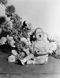 Dziecko z bukietem kwiaty (Wszystkie persons przedstawiający no są długiego utrzymania i żadny nieruchomość istnieje Dostawca gwa Obraz Stock