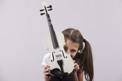 Dziecko z skrzypce Zdjęcie Royalty Free