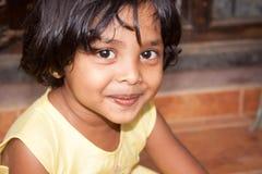 Dziecko z szczęśliwą twarzą Zdjęcia Royalty Free