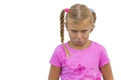 Dziecko z złym przeczuciem Obrazy Stock
