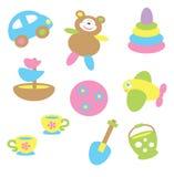 Dziecko zabawki w pastelowym brzmieniu Obraz Royalty Free