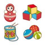 Dziecko zabawki wzór elementy projektu podobieństwo ilustracyjny wektora Fotografia Stock