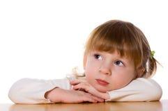 dziecko zadumany Fotografia Royalty Free