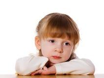 dziecko zadumany Obrazy Royalty Free