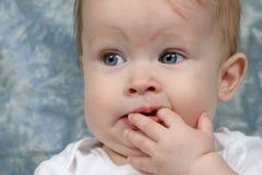 dziecko zbliżenia dziewczyna obrazy stock