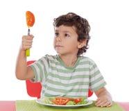 dziecko zdrowe jeść Obrazy Royalty Free