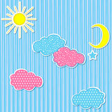 Dziecko zestawu papieru chmury royalty ilustracja