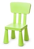 Dziecko zielona plastikowa stolec na białym tle Obrazy Royalty Free