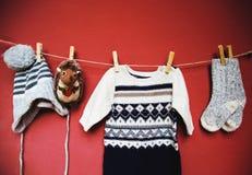 Dziecko zimy lub jesieni mody pojęcia tło obraz stock