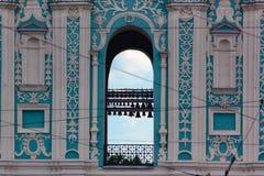 Dziedzictwo antyczny błękitny katedralny monaster Kijów Ukraina i muzeum fotografia stock