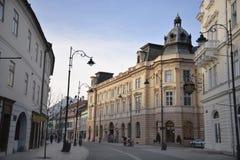 Dziejowa część Sibiu zdjęcie stock