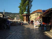 Dziejowa fontanna w Sarajevo Fotografia Stock