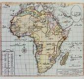 Dziejowa mapa Afryka Fotografia Royalty Free