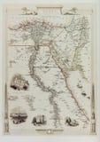Dziejowa mapa Egipt i Arabia obrazy stock