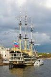 Dziejowa odbudowa fregata Obraz Royalty Free