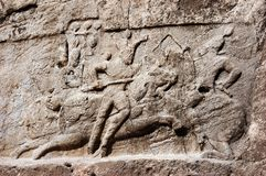 Dziejowa ulga o zwycięstwie Bahram II, Persepolis zdjęcia stock
