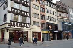 Dziejowa ulica Strasburg w Francja Obrazy Royalty Free