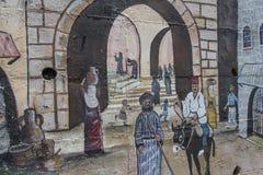 Dziejowe malować ściany i sztuka Obrazy Stock