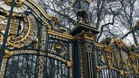 Dziejowe złoto bramy W opadzie śniegu zbiory