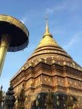 Dziejowego miejsca tajlandzka złota pagoda Fotografia Royalty Free