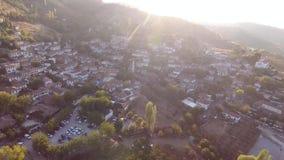 Dziejowi Biali domy, Sirince wioska, Izmir Turcja Widok z lotu ptaka trutnia strzał zdjęcie wideo
