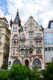 Dziejowi budynki w Karlovy Zmieniają, Karlsbadzki Zdjęcie Stock