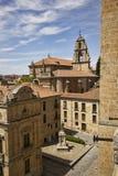 Dziejowi budynki w Salamanca, Hiszpania Zdjęcia Royalty Free