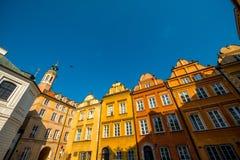Dziejowi budynki w Warszawa Zdjęcia Royalty Free