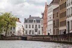 Dziejowi domy Bruges Belgia obraz stock