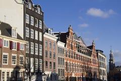 Dziejowi domy w Amsterdam Fotografia Royalty Free