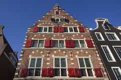 Dziejowi domy w Amsterdam Zdjęcia Stock