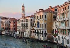 Dziejowi dwory na Grand Canal w Wenecja, Włochy zdjęcia royalty free