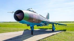 Dziejowi eksponaty Rosyjski samolot wojskowy przy Kubinka bazą powietrzną w Moskwa regionie, Rosja zdjęcia royalty free