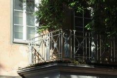 dziejowi miasta schwaebisch gmuend fasad budynki wyszczególniają orn fotografia stock