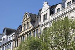 Dziejowi mieszkanie domy w Frankfurt Obraz Stock