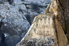 Dziejowi petrographs Cyzelowania datuje z powrotem 10 000 BC Zdjęcie Royalty Free