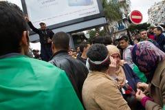 Dziejowi protesty w Algieria dla changement fotografia royalty free