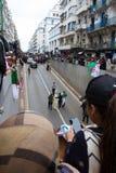 Dziejowi protesty w Algieria dla changement zdjęcie stock