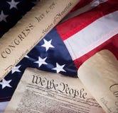 Dziejowi Stany Zjednoczone dokumenty Zdjęcie Royalty Free