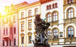 Dziejowi widoki Olomouc Obraz Stock