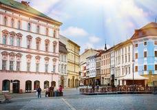 Dziejowi widoki Olomouc w republika czech Zdjęcia Royalty Free