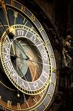 Dziejowy średniowieczny astronomiczny zegar obrazy stock
