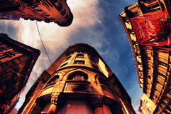 Dziejowy banka buildng od indyka Fotografia Stock