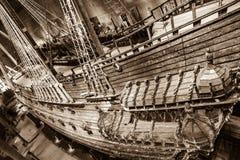 Dziejowy batalistyczny wysyła Vasa w Sztokholm, Szwecja Obrazy Royalty Free