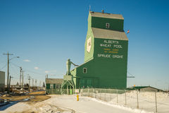 Dziejowy budynek Alberta basenu rolnika Pszeniczna kooperatywa obraz stock