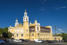Dziejowy budynek Azerbejdżańskiego stanu filharmoniczna sala Fotografia Stock
