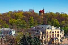 Dziejowy budynek Krajowy Filharmoniczny Ukraina w Kijów obraz stock